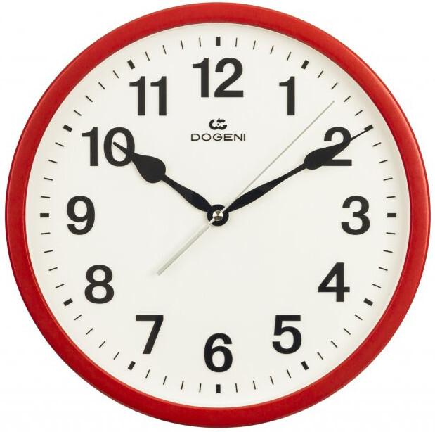 DOGENI Nástěnné hodiny s tichým chodem WNP002RE