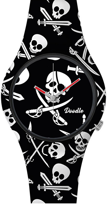 Doodle Skull Mood Black Pirates Skulls DOSK002