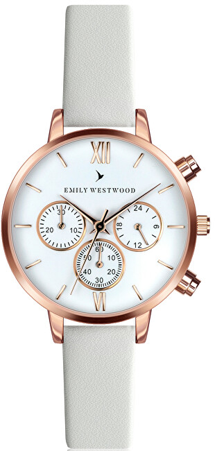 Emily Westwood Baalijin White Leather ECN-0014R