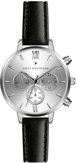 Emily Westwood Willie Black Leather ECP-B029S