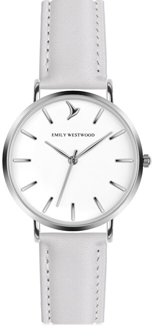 Emily Westwood Lewa Wildlife White Leather Strap Watch EBX-B018S
