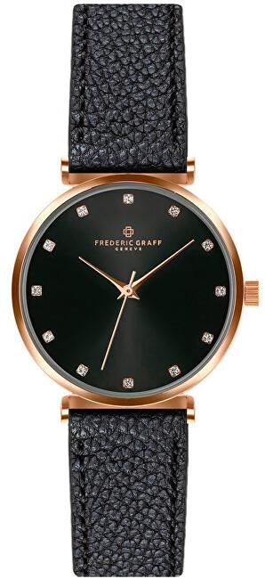 Frederic Graff Batura Star Lychee Black Leather Strap FCB-B012R