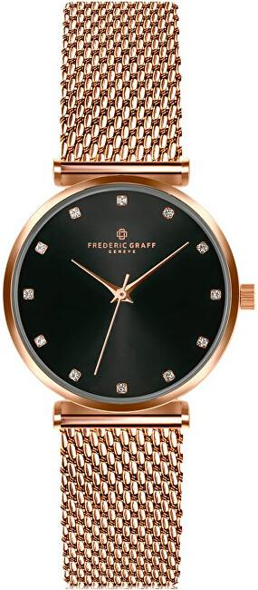 Frederic Graff Batura Star Rose Gold Mesh Watch FCB-3918