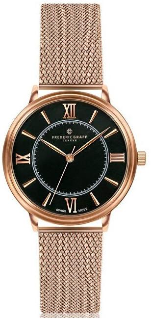 Frederic Graff Nanda Devi Rose Gold Mesh Watch FCA-3218