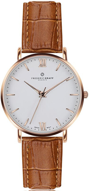 Frederic Graff Rose Dent Blanche Croco ginger brown Leather FAG-B002R