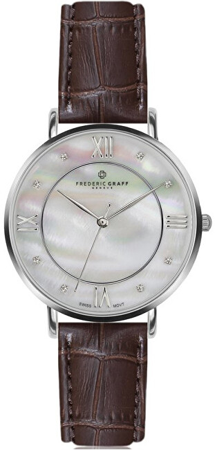 Frederic Graff Silver Liskamm Croco brown Leather FAJ-B011S