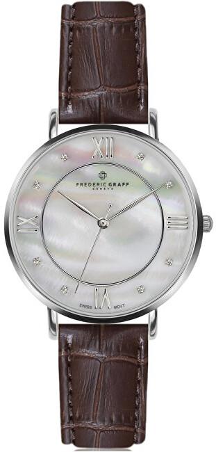 Frederic Graff Silver Liskamm Croco brown Leather FAJ-B011S