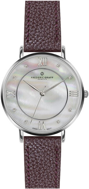 Frederic Graff Silver Liskamm Lychee bordeaux Leather FAJ-B016S