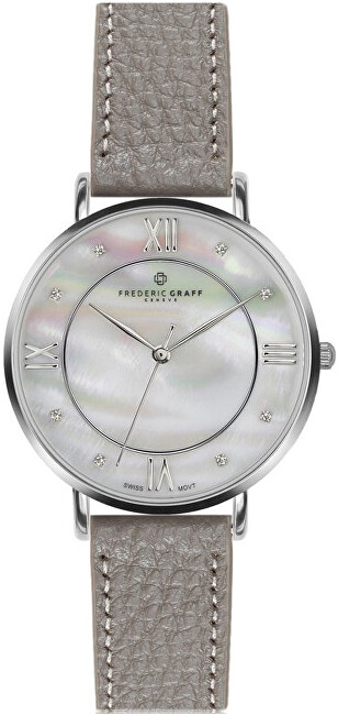Frederic Graff Silver Liskamm Lychee grey Leather FAJ-B015S