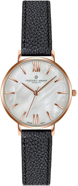 Frederic Graff Trivor Black Leather Strap Watch FCF-B034R