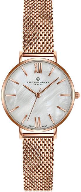 Frederic Graff Trivor Kanjut Trivor Rose Gold Mesh Watch FCF-3914 - SLEVA