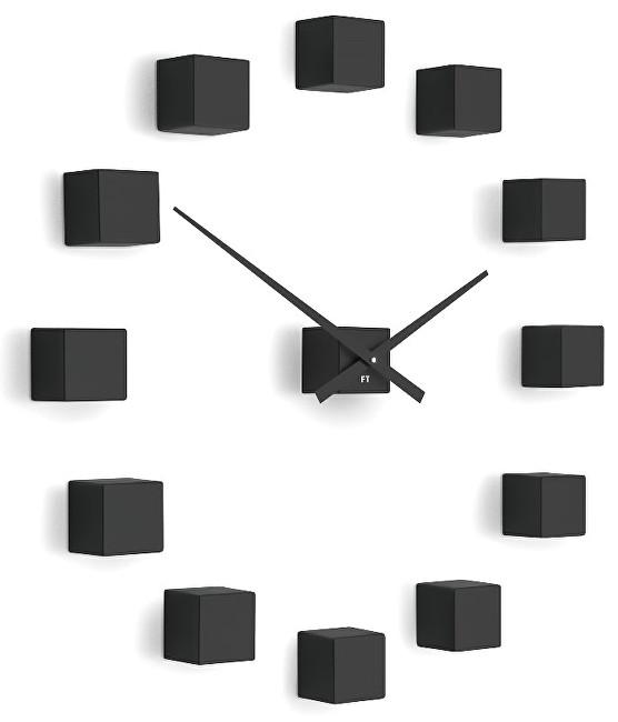 Future Time Nalepovací hodiny Cubic Black FT3000BK