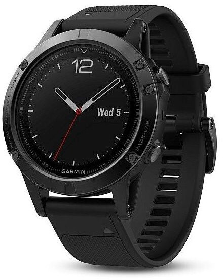 Garmin Fenix 5 Sapphire Black Optic Black band