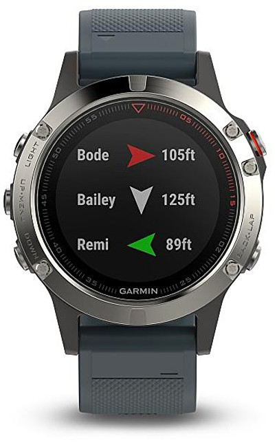Garmin Fenix 5 Silver Optic Blue band
