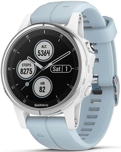 Garmin Fenix 5S Plus Sapphire White, Seafoam Band