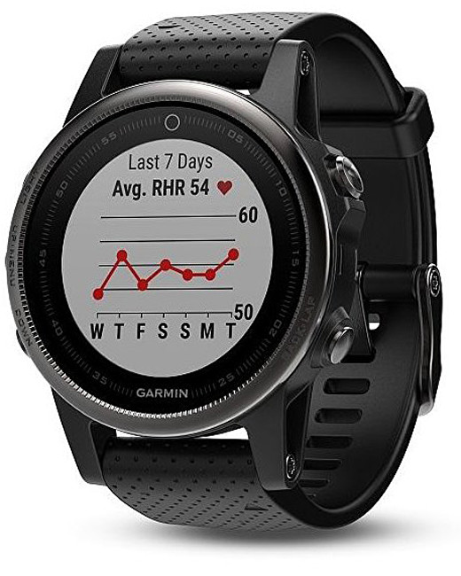 Garmin Fenix 5S Sapphire Silver Optic Black band