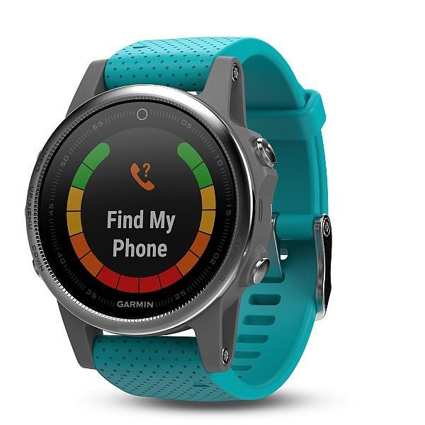 Garmin Fenix 5S Silver Optic Blue band