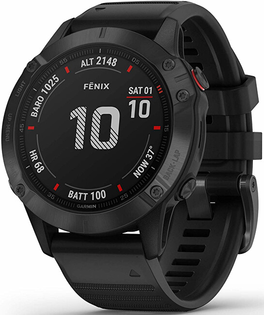 Garmin Fenix 6 PRO Black Black Band (MAP MUSIC) 010-02158-91