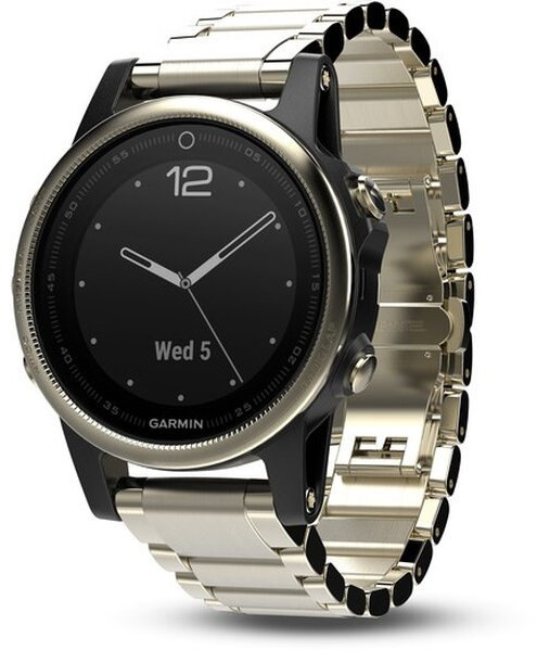Garmin Fenix 5S Sapphire Champagne Optic Metal band
