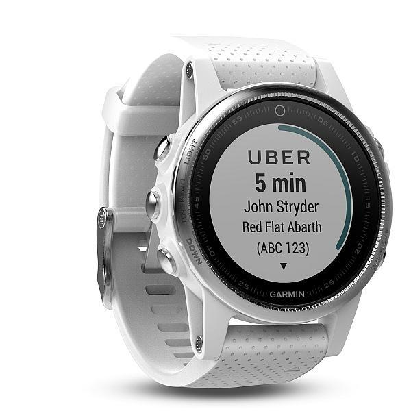 Garmin Garmin fenix 5S Silver Optic White band