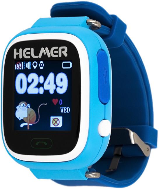 Helmer Chytré dotykové hodinky s GPS lokátorem a SIM kartou GoMobil s kreditem 50 Kč LK 703 modré
