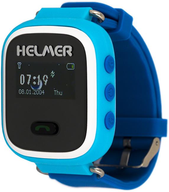 Helmer Chytré hodinky s GPS lokátorem LK 702 modré + SIM karta GoMobil s kreditem 50 Kč