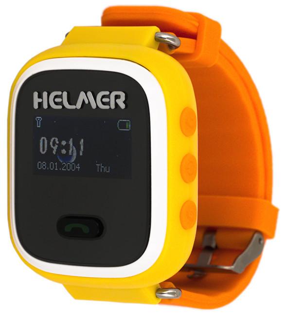 Helmer Chytré hodinky s GPS lokátorem LK 702 žluté + SIM karta GoMobil s kreditem 50 Kč
