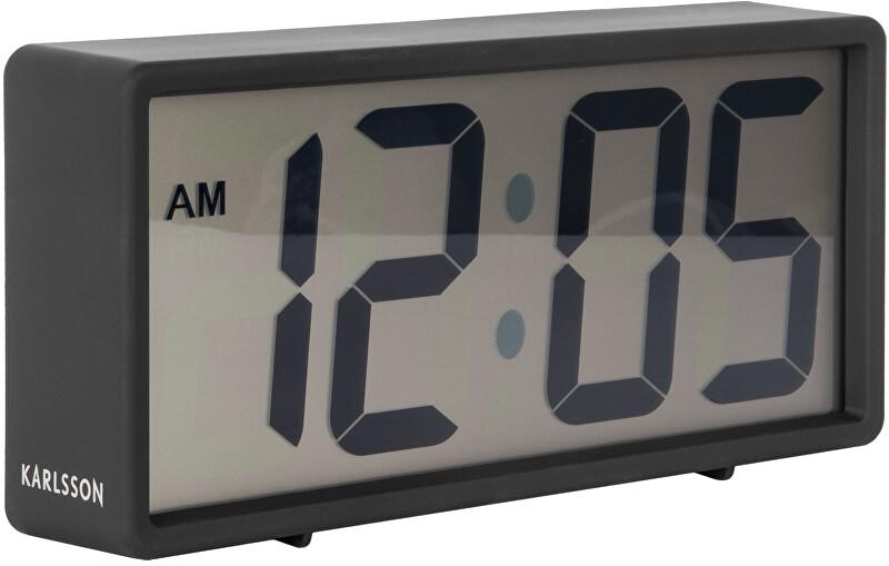 Karlsson Digitální stolní i nástěnné hodiny/budík 5646BK