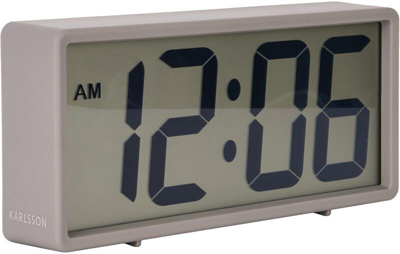 Karlsson Digitální stolní i nástěnné hodiny/budík KA5646GY
