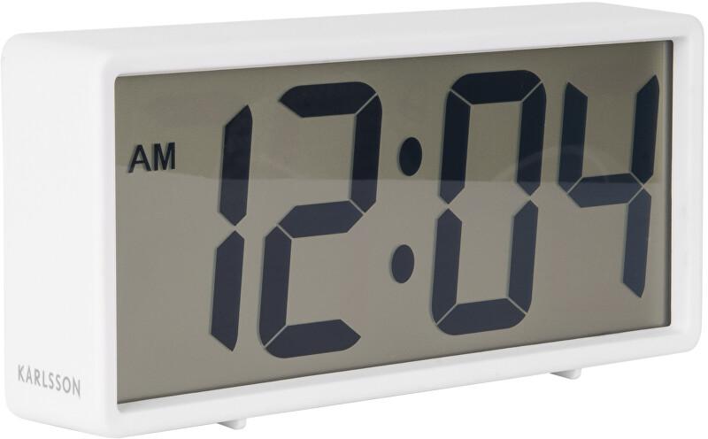 Karlsson Digitální stolní i nástěnné hodiny/budík KA5646WH