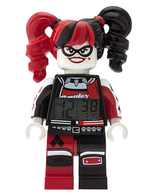 Lego Batman Movie Harley Quinn - hodiny s budíkem