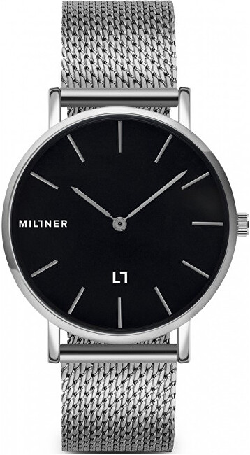 Millner Mayfair Silver Black 39 mm