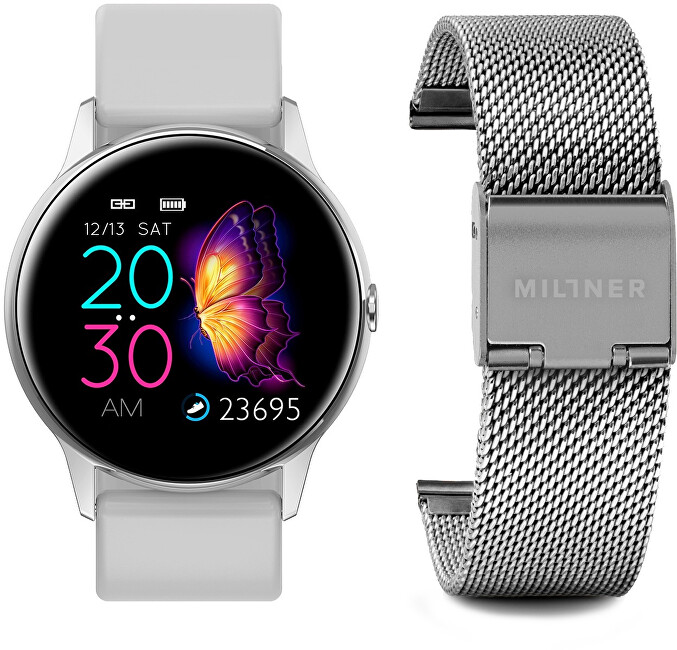 Millner Smartwatch White-Silver