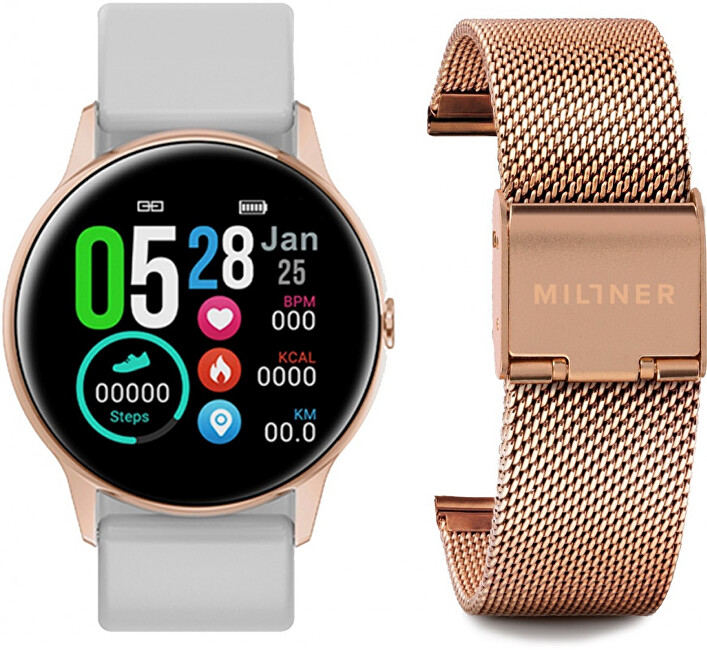Millner Smartwatch White-Rosegold