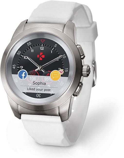 MyKronoz Hybridní hodinky ZeTime Original Silver/White - 44mm