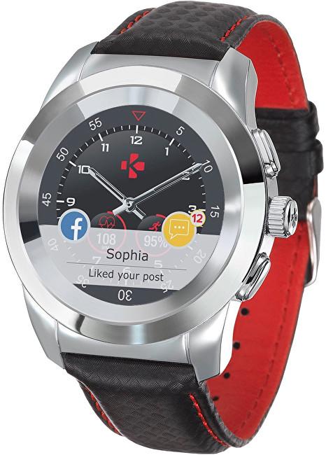 MyKronoz Hybridní hodinky ZeTime Premium Silver/Black - 39 mm