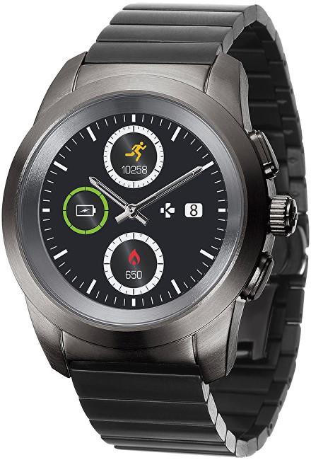 MyKronoz Hybridní hodinky ZeTime Elite Titanium Modern Link - 44 mm