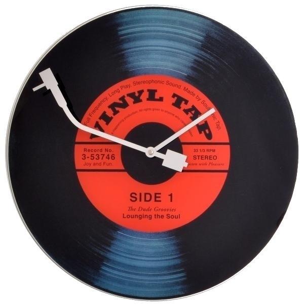 Fotografie Nextime Vinyl Tap 8141 nástěnné hodiny