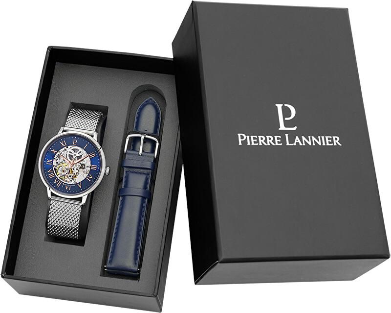 Pierre Lannier Dárkový set hodinky Automatic + náhradní řemínek 461C168