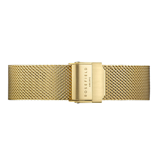 Rosefield Tribeca Mesh Gold Strap