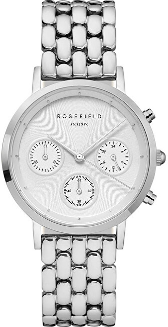 Rosefield The Chrono White Silver NWGN92