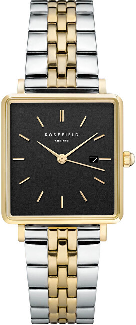 Rosefield The Boxy Black Silver Gold Duo QVBGD-Q015
