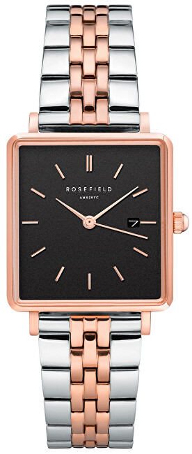 Rosefield The Boxy Black Silver Rose gold Duo QVBSDQ016