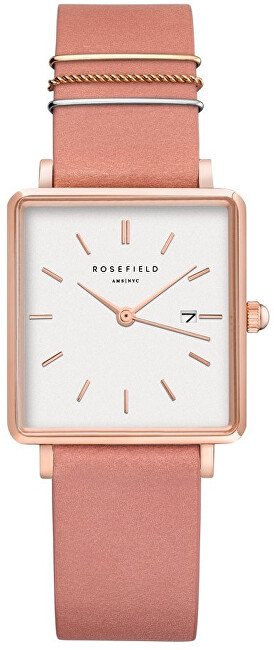 Rosefield The Boxy White Old Pink Rose Gold QOPRGQ026
