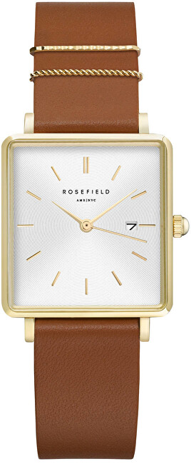 Rosefield The Boxy White Sunray Cognac Gold QSCGQ029