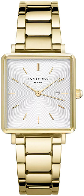 Rosefield The Boxy White Sunray Steel Gold QWSG-Q041