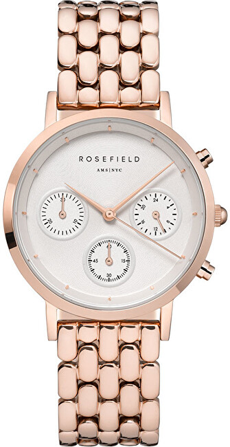 Rosefield The Chrono Rose Gold