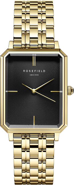 Rosefield The Elles Black Sunray Steel Gold OBSSG-O47