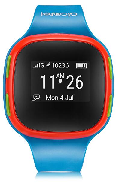 Alcatel GPS lokátor MOVE TIME Track&Talk Watch, Blue/Red - SLEVA