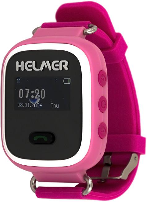 Helmer Chytré hodinky s GPS lokátorem LK 702 růžové - SLEVA